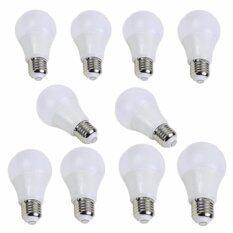 ซื้อ Xinwy หลอดไฟ Led E27 Bulb กันน้ำ 5W แสงขาว 6500K 10หลอด
