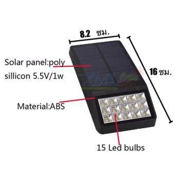 ขายถ ก โปรโมช นลดแรง xml solar โคมไฟโซล าเซลล ต ดผน ง 15 smd led