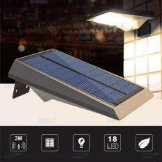 ขาย Xml Solar ไฟผนังโซล่าเซลล์ 18 Smd Led Motion Sensor แสง เหลืองวอมไวท์ ไทย