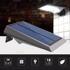 โปรโมชั่น Xml Solar ไฟผนังโซล่าเซลล์ 18 Smd Led Motion Sensor แสง ขาว