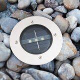 โปรโมชั่น Xml Solar โคมไฟฝังพื้นโซล่าเซลล์ 3 Led เเสง สีเหลืองวอมไวท์ Xml Solar ใหม่ล่าสุด