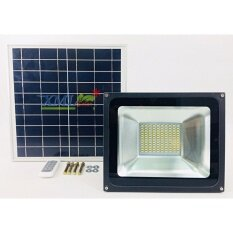 ราคา ราคาถูกที่สุด Xml Solar ไฟสปอตไลท์โซล่าเซลล์ 50W รุ่น รีโมทขาว เเสงเหลืองวอมไวท์