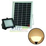 ซื้อ Xml Solar ไฟสปอตไลท์โซล่าเซลล์ 64 Led เเสง เหลืองวอมไวท์ ออนไลน์