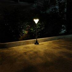 ซื้อ Xml Solar ไฟตั้งพื้นสนาม โซล่าเซลล์ 34 Led เเสงเหลืองวอมไวท์ 77 5 ซม ใน Thailand