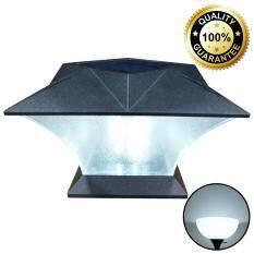 ขาย Xml Solar โคมไฟหัวเสาโซล่าเซลล์ ทรงสี่เหลี่ยม เเสง สีขาว ราคาถูกที่สุด