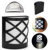 ราคา Xml Solar โคมไฟผนัง พลังแสงอาทิตย์ 6 Led ทรง ตาข่าย เเสง ขาว ใหม่