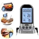 ราคา Xupei Wireless Remote Digital Cooking Meat Thermometer Smoker Thermometer With Dual Probe For Grill Bbq Thermometer Monitors Food From 70Meters Away Black Intl Louis Will ใหม่
