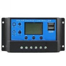ซื้อ ควบคุมการเก็บประจุ Y H Pwm Solar Charge Controller 10A 12V 24V Auto Regulator Over Load Protection Light Timer Lcd Display Dual Usb 5V