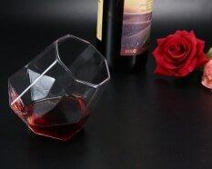 Yazhang แก้ววิสกี้, แก้วเหล้าเพชรหมุนรูปแก้วใสสำหรับเครื่องดื่มแก้ว, 7.5x6 เซนติเมตร - Intl