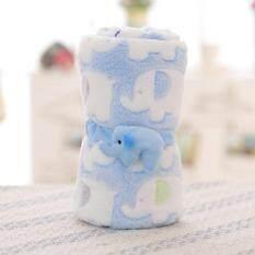 ขาย Ybc ช้างการ์ตูนๆปะการังที่นอนห่มผ้าห่มขนเครื่องปรับอากาศสีน้ำเงิน จีน ถูก
