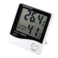 ซื้อ Ybc Electronic Lcd Digital Thermometer Hygrometer Humidity Meter Clock Weather Station Intl ออนไลน์