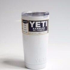 ซื้อ Yeti Rambler แก้วเก็บความเย็นนาน 24 ชั่วโมง น้ำแข็งไม่ละลาย ไม่มีไอน้ำระเหยเกาะรอบแก้ว เหมาะสำหรับทุกทริปการเดิน ขนาด20ออนซ์ สีขาว Yeti ออนไลน์