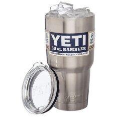 Yeti Rambler แก้วเก็บความเย็น เก็บน้ำแข็งได้นาน 24ชั่วโมง ขนาด 30 ออนซ์ (พร้อมฝา).