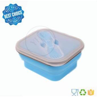 YHL กล่องใส่อาหาร พับได้ ซิลิโคน สามารถเข้าไมโครเวฟ -