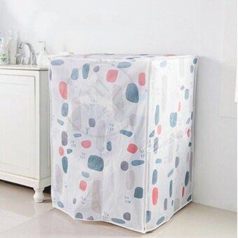YHL ผ้าคลุมเครื่องซักผ้า ที่คลุม เครื่องซักผ้า เครื่องอบผ้า Front Load Washing Machine Cover ฝาหน้า (ลายวงรี)