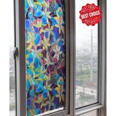 ขาย Yhl ฟิล์มติดกระจก สติ๊กเกอร์ติดกระจก Orchid Mosaic Glass Sticker Wall Sticker ลายโมเสค ขนาด 45X100ซม กล้วยไม้ ออนไลน์ Thailand