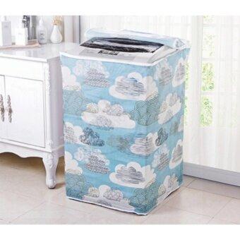 YHL ผ้าคลุมเครื่องซักผ้า ที่คลุม เครื่องซักผ้า เครื่องอบผ้า Top Load Washing Machine Cover ฝาบน (ลายเมฆ)