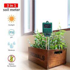 ขาย Yieryi 3 In 1 Plant Flowers Soil Ph Tester Moisture Measuring Humidity Light Meter Hydroponics Analyzer Gardening Detector Hygrometer High Quality Garden Tool Intl ถูก ใน จีน