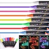 ราคา Yika Liquid Chalk Pens Marker Reversible Neon Colours Whiteboeard Wipe Clean 6Mm Yika