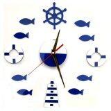 ราคา Yika Diy Mute Wall Clock Home Office Room Decor Sticker Blue ราคาถูกที่สุด