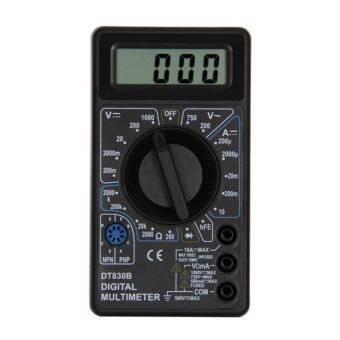 Yika DT830B LCD ดิจิตอลเครื่องวัดแอมป์โอมมิเตอร์โวลต์มิเตอร์มัลติมิเตอร์โวลต์อีซี DC เครื่องวัดระยะ
