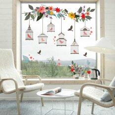 ขาย Yika Flower Vine Bird Cage Wall Stickers Art Decal Home Decor Mural Paper Vinyl Lobby Intl ออนไลน์
