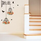 โปรโมชั่น Yika Flower Vine Bird Cage Wall Stickers Art Decal Home Decor Mural Paper Vinyl Lobby Intl Yika