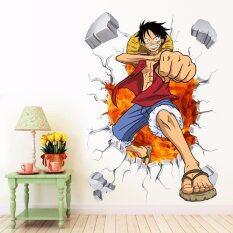 ส่วนลด Yika One Piece Luffy ภาพจิตรกรรมฝาผนังรูปลอกสติ๊กเกอร์ถอดได้ ตกแต่งห้องเด็ก