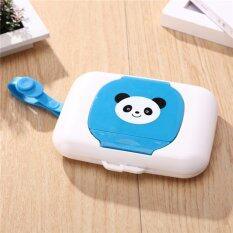 ราคา Yingwei สไตล์แพนด้ากล่องผ้าเช็ดทำความสะอาดแบบพกพาสะดวกสบายกล่องรถเข็นเด็กใช้กล่องทิชชู่สำหรับทารก สีฟ้า นานาชาติ ใน จีน