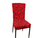 ขาย Yingwei Stretch Banquet Slipcovers Dining Room Wedding Party Short Chair Covers Protector Red Black ใหม่