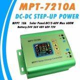 ซื้อ Ysmart Mpt 7210A Mppt 10A Solar Regulator Charge Controller For 24V 36V 48V 60V 72V Battery Dc12 60V Max 600W Solar Panel Intl จีน