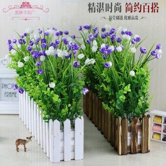 ดอกไม้พลาสติกสีเขียว Yu Jinxiang ดอกไม้จำลองพืชและดอกไม้