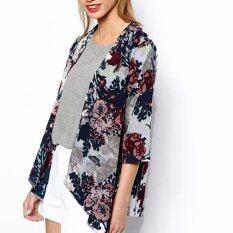 Zanzea Women Floral Loose Coat Chiffon Kimono Tops Zanzea ถูก ใน Thailand