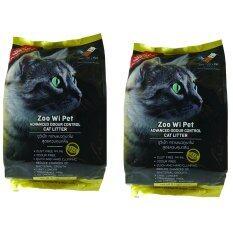 Zoo Wi Pet ซูวิเพ็ท ทรายแมวภูเขาไฟสูตรควบคุมกลิ่น 5 ลิตร X 2 ถุง Zoo Wi Pet ถูก ใน ไทย