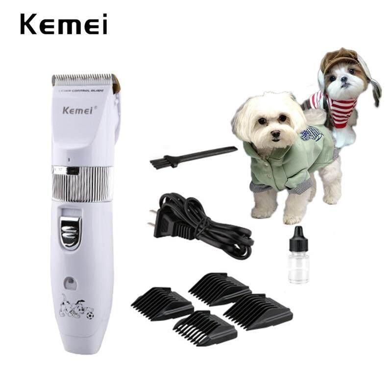 Kemei ปัตตาเลี่ยนตัดขนสุนัข ใบมีดเซรามิก แบบไร้สาย + หัวตัด 4 หัว ปัตตาเลี่ยน ที่ตัดขนน้องหมา ตัวขนสุนัข-แมว อุปกรณ์ตัดแต่งขนสุนัข By Numbers One.