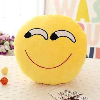 นุ่ม Emoji สีเหลืองหมอนอิงทรงกลม Emotion ตุ๊กตาตุ๊กตาหนานุ่มตุ๊กตาหนานุ่มหมอนหน้ายิ้ม Stylish-