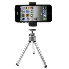 ขาย ซื้อ ออนไลน์ Tri Pod Adjustable Mobile Holder Tripod Stand Silver