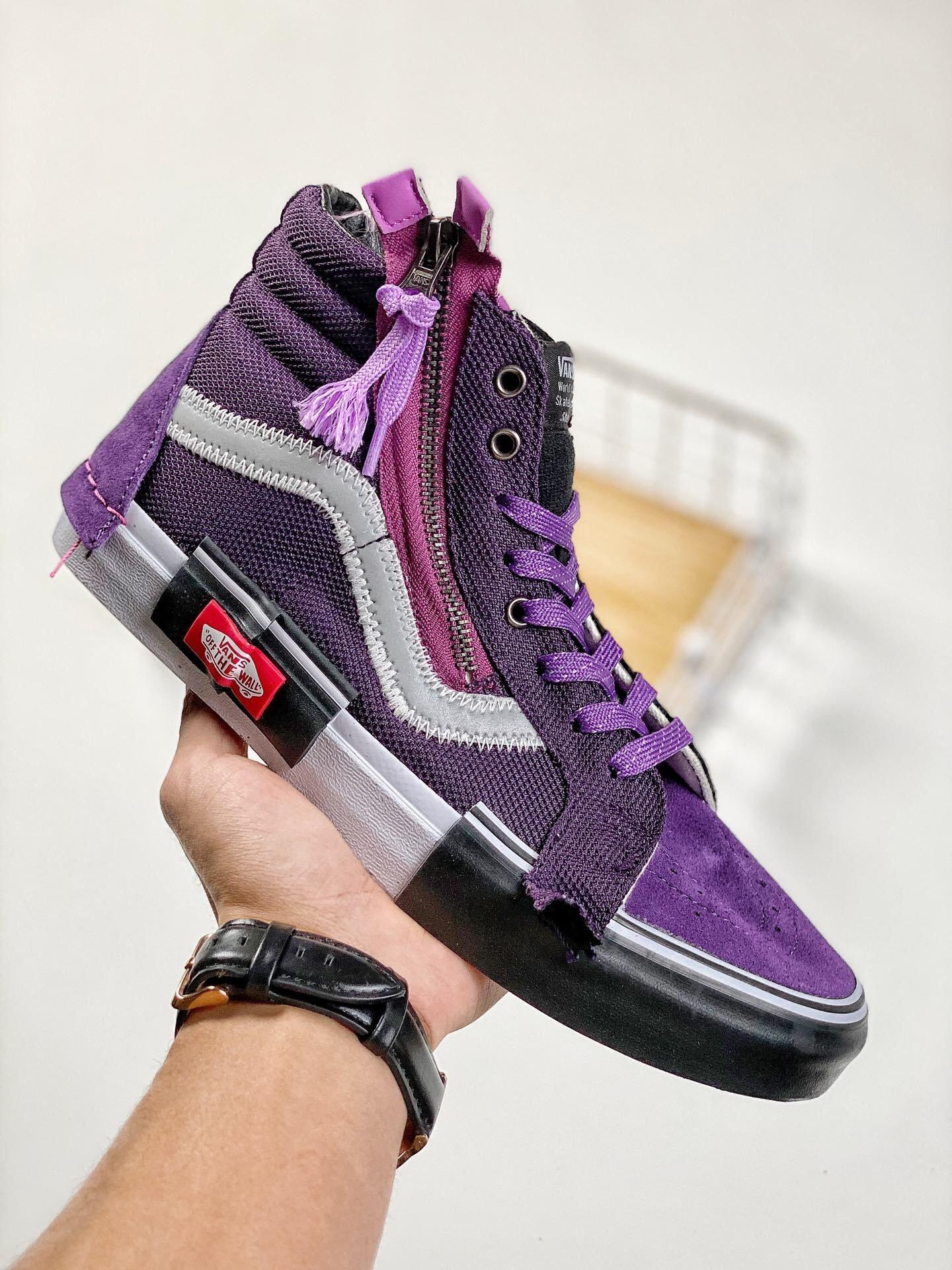 Vance Sk8-Hi Reissue CAP Purple giày đế bằng  Giao hàng miễn phí ai đó giày nam Đơn đặt hàng ban đầu