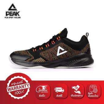 PEAK รองเท้า บาสเกตบอล Basketball shoes พีค รุ่น EW7207A - Black/Red-