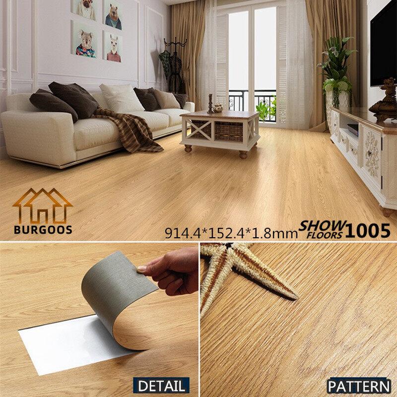 พื้นกระเบื้องยาง พื้น PVC ขนาด 5 ตารางเมตร หนา 1.8 mm. ยาว91.4x15.2 cm (1005)