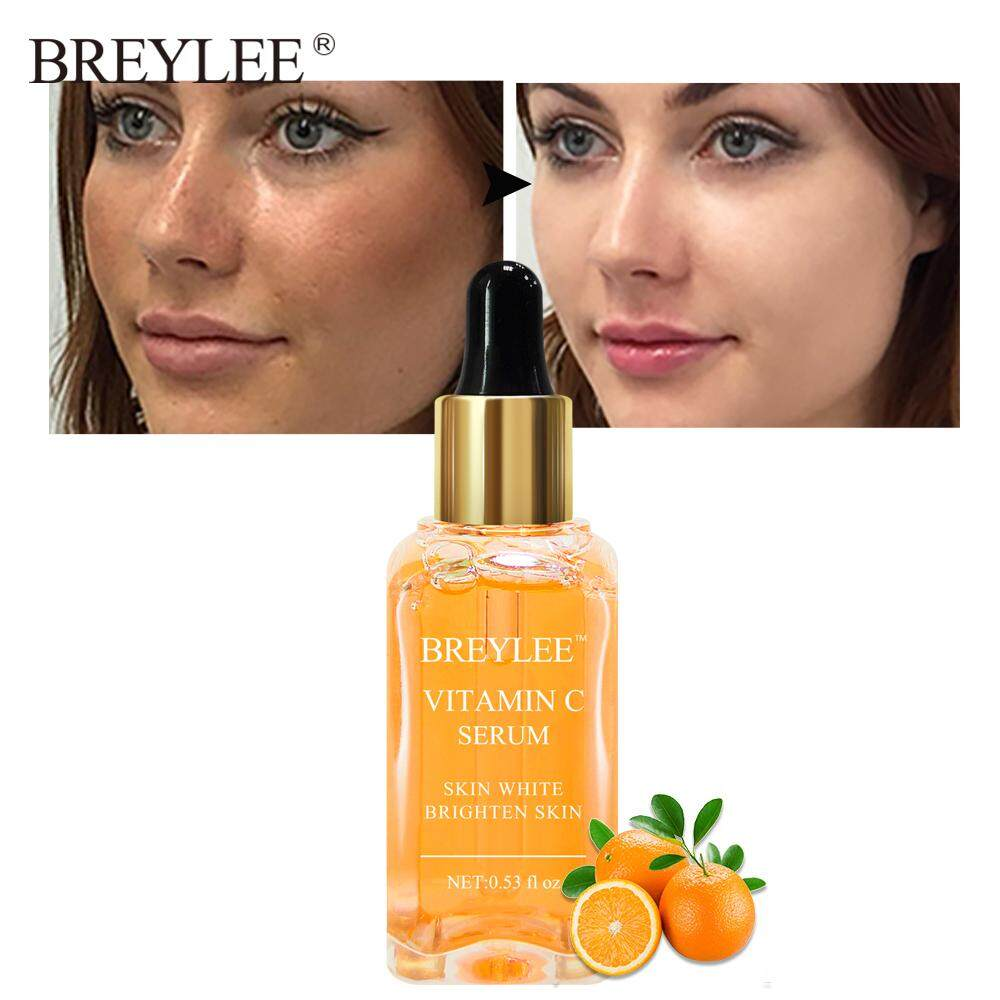 Breylee เซรั่มบำรุงผิว เซรั่มวิตามินซี ต่อต้านริ้วรอย ไวท์เทนนิ่ง Vitamin C Whitening Serum Brighten Skin Face Skin Care Fade Dark Spots Freckle 100% Natural Ingredients Anti-Aging Serum.