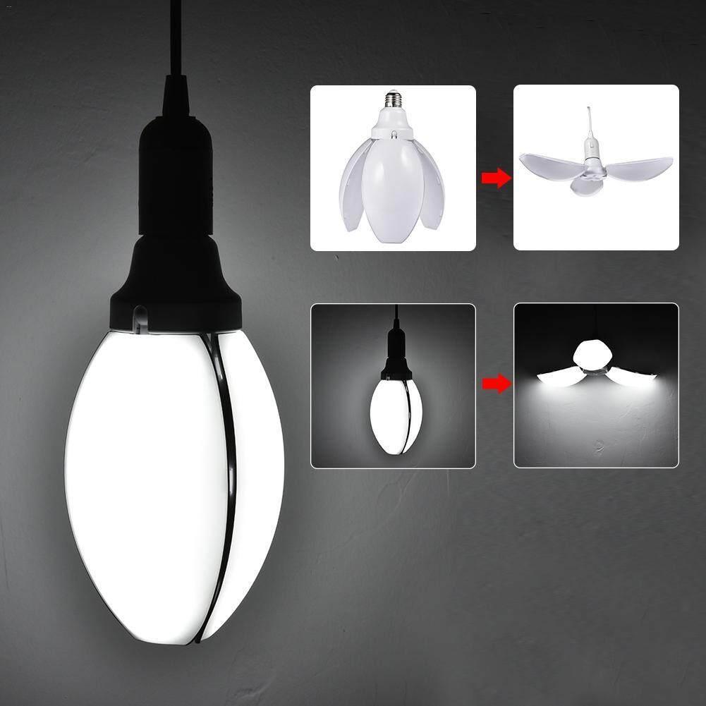10shop หลอดไฟ โคมไฟ ไฟ ไฟประดับ Led ทรงใบพัด พับได้ ขนาด 45w ขั๊ว E27 หลอดไฟ Led ดอกไม้ปรับ หลอดไฟ Led Petal Fan Blade Bulb Flower Lamp Adjustable.