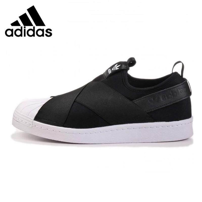 Adidas_Superstar_Slip_Clover Men and Women Skateboarding Shoes sports shoes Black / White, Non-Slip
