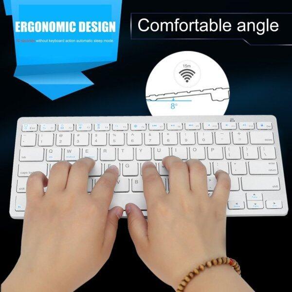 OSMAN Silver Ultra-slim Wireless Bluetooth Keyboard For Air for ipad Mini for Mac