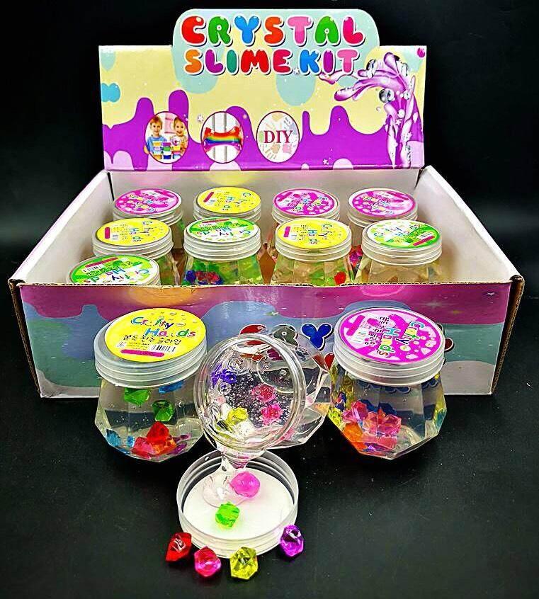 Lnw Kids Shop สไลม์ อัญมณี เรืองแสง 12ขวด 420 บาท By Lnw Kids Shop.