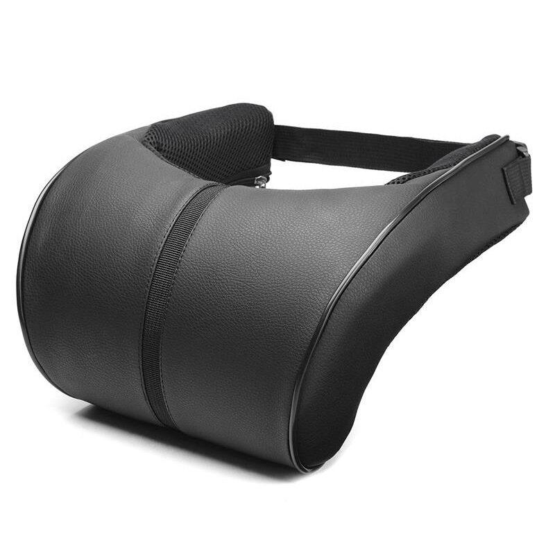 Adjustable Car Headrest Neck Pillow Faux Leather Neck Protection Rest Pillows 1X