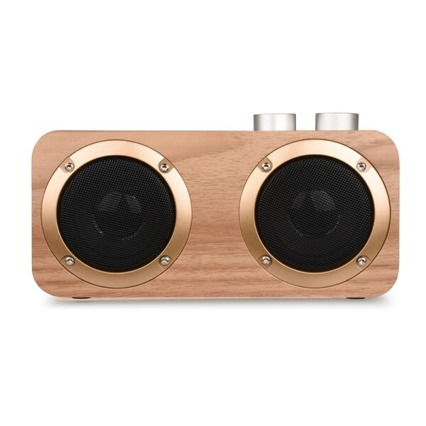 Bluetooth Speakers 2 Speakers 16W Stereo Hifi Subwoofers Wood Wireless Loudspeaker Knob Button AUX USB TF MP3 Player Malaysia