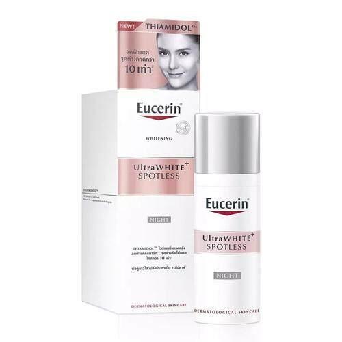 Eucerin Ultrawhite+ Spotless Spot Corrector Night Cream 50ml. ยูเซอรีน อัลตร้าไวท์ พลัส สปอตเลส ไนท์ ฟลูอิด