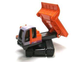 Tomica Diecast Hitachi Rubber Crawler Dump Carrier (สีเทา/แดง)