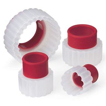 Cuisipro ชุดพิมพ์คุกกี้ รูปวงกลมหยัก 5 ชิ้น - White / Red